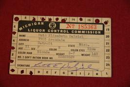 Michigan Liquor Control Commission Card - Vintage - $7.00