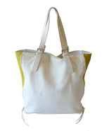 Authentic Maurizio Taiuti White & Yellow Tote S... - $35.00