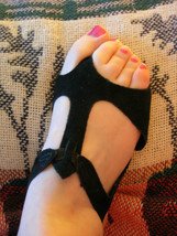 Lyrical Sandals / Black Sandasols Adult size 4 for dance and stage - $11.99