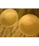 2 CORNING WARE  FR WHITE  ROUND 16 OZ  CASSEROLES  473 ML STONEWARE w/NE... - $14.99