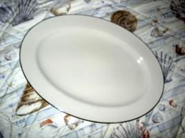 LENOX 17 in Platter with Platinum Trim ~ USA ~ Brookdale/Charleston/Cont... - $39.99