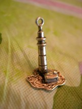Vintage Cape Cod Lighthouse / Sterling Silver Charm ~ circa 1960's ~nice... - $24.99