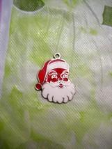 Vintage Santa Claus Enameled / Sterling Silver Charm .... circa 1960's - $19.99