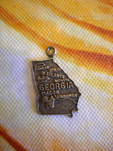 Vintage Sterling Silver Georgia State Charm  .... - €13,00 EUR