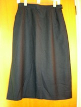 SZ 12 *New* Classic Wool Skirt ~ Navy ~ Fully lined w/pockets - $59.99