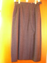 SZ 8 *New* Classic Wool Skirt ~ Charcoal Grey ~ Fully lined w/pockets - $59.99
