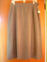 SZ 12 *New* Classic Wool Skirt ~ Light Grey ~ Fully lined w/pockets - $59.99