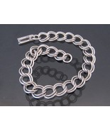 Antique Sterling Silver Link Chain Bracelet 7 1/2'' Length - $50.00