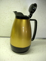 Vintage Thermo-Serv Insulated Coffee Server Black and Gold - $17.99
