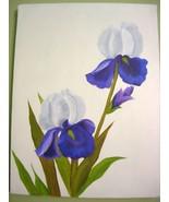 Blue Iris Original Oil Painting - $99.00