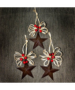 Country Star with Jute Christmas Ornament Set of 3 - $12.00