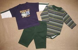 BOYS 3-6 MONTHS - Babyworks Rookie of the Year BODYSHIRT, SHIRT & PANTS ... - $18.50