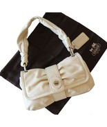 Authentic Coach Parker Off-White Leather Baguet... - $40.00