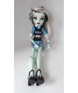 """Monster High Doll Female White Black Hair Blue Pink outfit 10"""" - $19.55"""