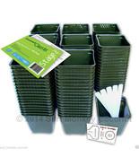 150 Plastic Nursery Plant Pots Kit w/ 10 Seedling Labels, Growing Guide ... - $36.95