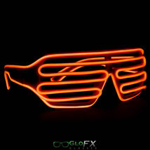GloFX Luminescence Shutter Frames- Orange Solid On Durable Plastic Frame Raver - $29.95