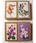 CONGRESS Playing Cards 2 Double Decks Cel-U-Tone Finish Vintage Boxed Sets - €11,43 EUR