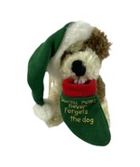 Boyd's Bears Santa Paws Dog Holding a Stocking-Santa Paws Never Forget t... - $12.65