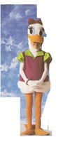 GIRL DUCK COSTUME  SIZE SMALL 4/6 - $49.00