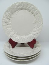"Fitz & Floyd Embossed Fern Leaf Salad Plate 4"" Bundle of 4 - $37.83"