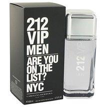 212 Vip by Carolina Herrera Eau De Toilette Spray 6.7 oz for Men - 100% ... - $93.47