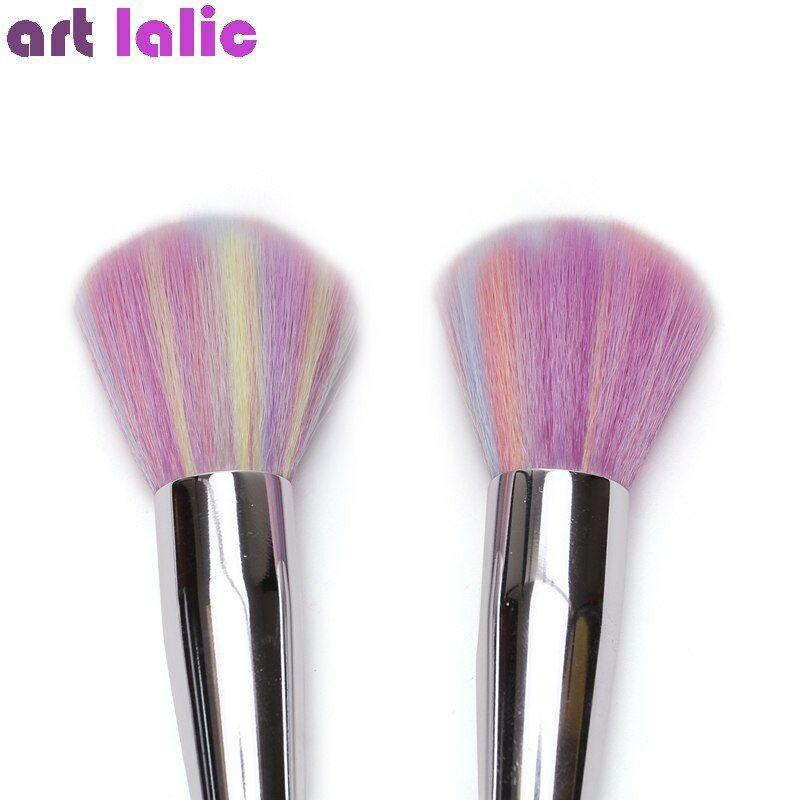 ArtLalic® 1Pc/Set Nail Cleaning Brush Gradient Rainbow Pink Rhinestone