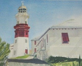 JILL AMOS RAINE ST DAVID'S LIGHTHOUSE BERMUDA ART PRINT - $386.99