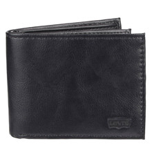 Levi's Black Bifold RFID Embossed Logo Credit Card ID Wallet for Men image 2
