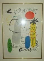 JOAN MIRO SPAIN ART MAEGHT GRAPHIQUE LITHOGRAPH PRINT - $240.00