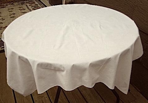 """40"""" Square Vintage Cotton Tablecloth - Light Ecru  #5138"""