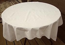 """40"""" Square Vintage Cotton Tablecloth - Light Ecru  #5138 - $6.99"""