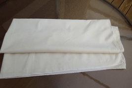 """40"""" Square Vintage Cotton Tablecloth - Light Ecru  #5138 image 3"""