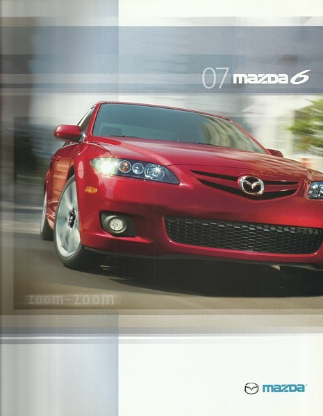 Primary image for 2007 Mazda 6 MAZDA6 brochure catalog 07 US s i