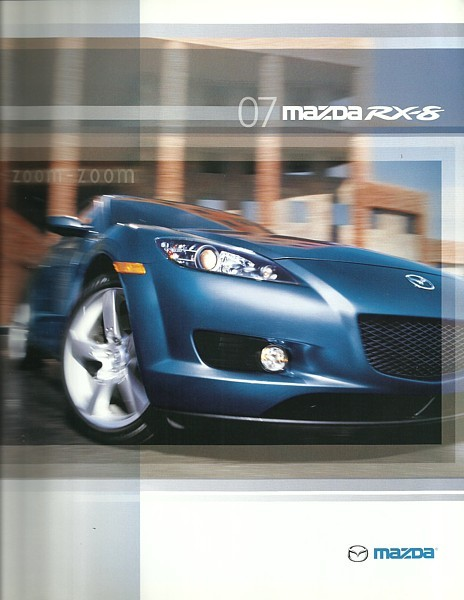 Primary image for 2007 Mazda RX-8 sales brochure catalog 07 US (writing on back)