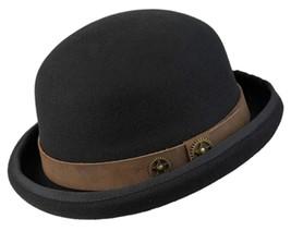 NEW Conner Hats Australian Wool STEAMPUNK Wheels BOWLER DERBY Hat Black ... - $1.185,05 MXN