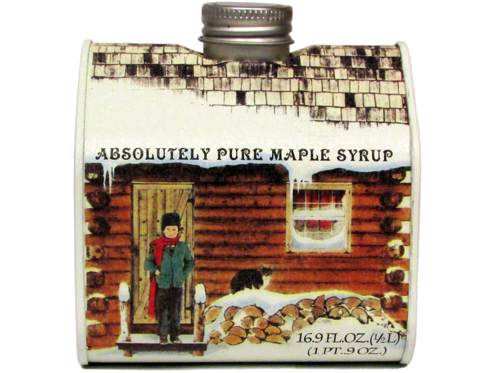 Amazing photo of  Syrup Grade A Medium Log Cabin Tin Pint Honey Syrup & Sweeteners with #AB3E20 color and 1600x1200 pixels