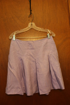 Ann Taylor LOFT Lavender Purple Linen Full Skirt Size 6 Petite - $10.99