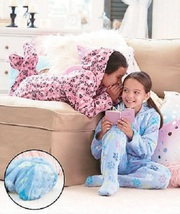 Girls Footed PJs with Hood Sizes S 4/5 Animal Print - $9.99