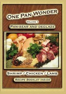 "Jim Ruch ""One Pan Wonder"" Shrimp Chicken Lamb Vol. 1 Recipe Book & Cooking DVD"
