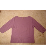 Medium Investments Fine Cashmere Sweater Lilac Boat Neckline NWT  3/4 sl... - $44.99