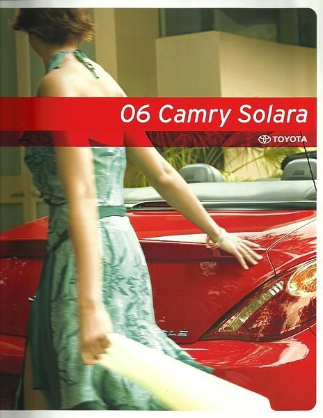 2006 toyota camry solara sales brochure catalog 06 us se sle toyota. Black Bedroom Furniture Sets. Home Design Ideas