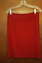 Petite Sophisticate Red Skirt Size Medium - $8.99