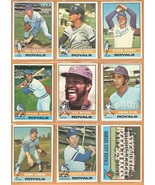 1976 Topps Kansas City Royals Team Lot 26 Diff Frank White McRae Patek Otis  - $7.95