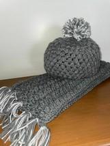 Handmade Crochet Hat And Scarf Set - $29.70
