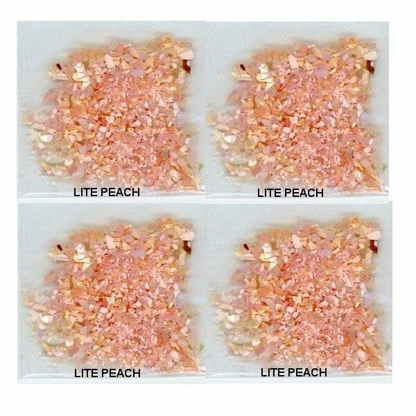 Tiny SEA SHELL FLAKES New  LITE PEACH  Color