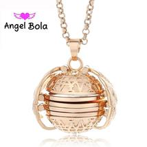 Magic Photo Pendant Memory Floating Locket Necklace Plated Angel Wings F... - $17.99