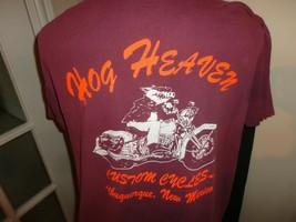 Vtg 1992 3D Emblem American Biker Eagle Rose Feather Hog Heaven Tshirt A... - $113.80