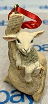 "Lowell Davis ""Lamb"" Ornament 1992 Schmid Burlap Bag 223509 Country Christmas - $42.06"