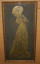 LADY MARGARET PEYTON I GOLD RUBBING LITHO PRINT... - $289.14