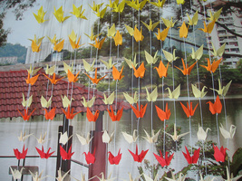 Origami Ombre Cranes Garlands Set Of 100 String For Event And Wedding Decoration - $300.00